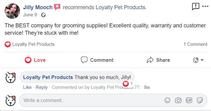 The BEST company for grooming supplies!