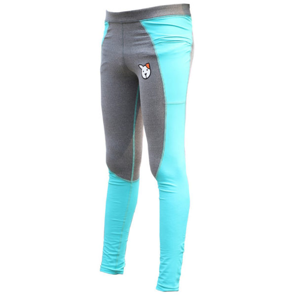 Dog Grooming Pants - Gray and Turquoise
