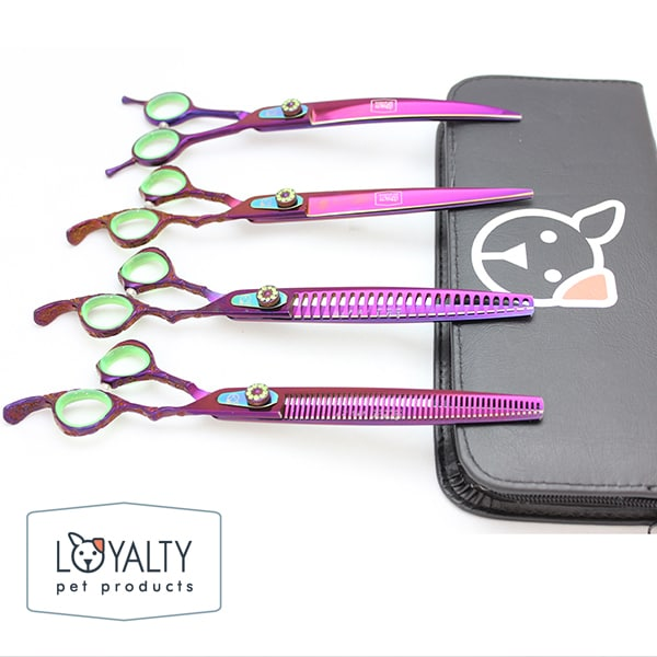Poison Ivy Purple Dog Grooming Shears Elegant Collection